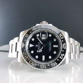Pre owned Rolex gmtmaster 2 116710Ln full set under  warranty