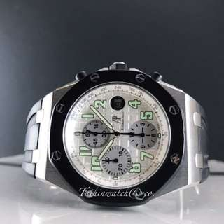 Pre owned Audemars Piguet Royal Oak offshore chronograph rubberclab full set