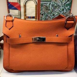 正品 95%新 Hermes Jypisere 31 愛馬仕橙色斜揹上膊袋