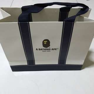 Brand new bathing ape paper bag