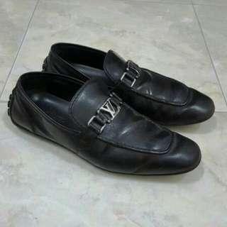 Louis Vuitton LV Black Loafer original not gucci hermes bally
