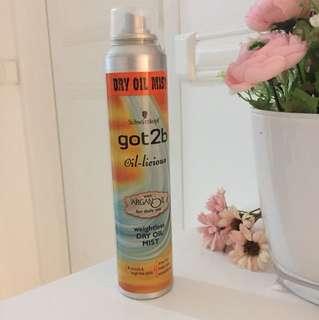 Spray untuk rambut kering