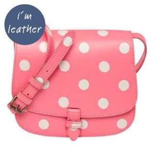 Cath Kidston Button Spot Leather Cross Body Bag