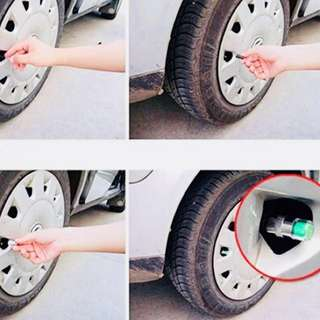 4pcs Car motorbike bicycle lorry Auto Tire Pressure Monitor Valve Stem Caps Cover Sensor Indicator Alert High quality