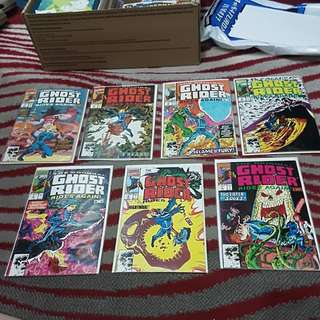 7 Marvel Comics THE ORIGINAL GHOST RIDER RIDES AGAIN #1 TO #7 complete set of 7