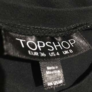 TOPSHOP Plain Black Shirt