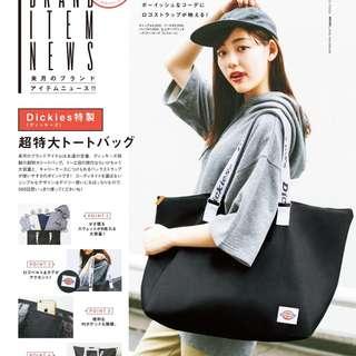 日本雜誌附錄Dickies旅行包 行李包 男女手提短途旅行袋 大容量多功能休閒tote bag