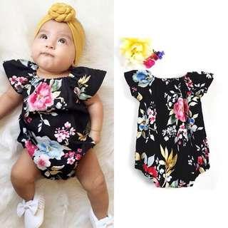 🌸NEWBORN KIDS BABY INFANT'S CASUAL SHORT SLEEVE FLORAL JUMPSUIT ROMPER🌸