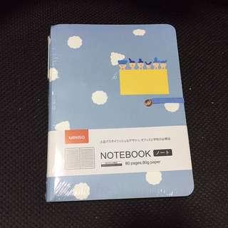 Miniso light blue notebook