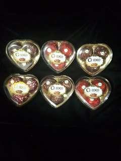 Valentine Chocolate 3 pcs heart shape