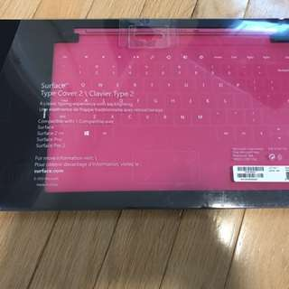 Microsoft Surface Touch Cover 2 Backlit Keyboard S Pro S2 Pro 2 RT Pink New