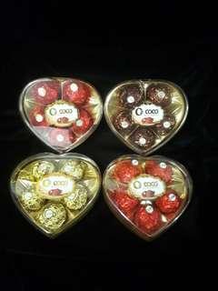 Valentine chocolate 5 pcs heart shape