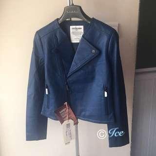 ❄️ 100%正品 全新 CHEVIGNON品牌 真羊皮皮褸 大熱 biker款 女裝 ❄️🎁罕有藍色 靚色