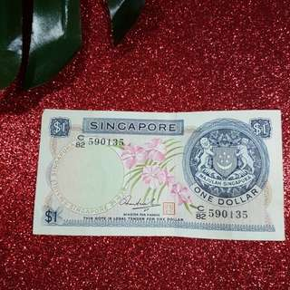 Orchid Series- Singspore $1 notes