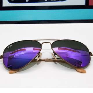 RAY BAN AVIATOR FLASH LENSES LENSES: Violet Mirror Model code: RB3025 167/1M 58-14 RAYBAN BRAND NEW