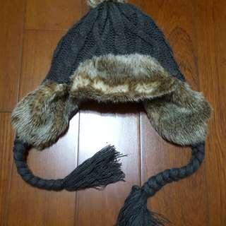 針織保暖護耳飛行毛帽 百貨日系專櫃