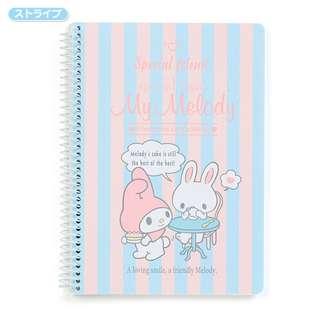 Sanrio 日本正版 My Melody Sweet Days系列 記事本 筆記簿 單行簿