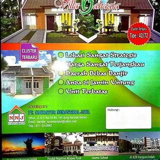 Dijual Rumah Minimalis lokasi strategis Ujung Harapan Bekasi Villa Bahagia 2