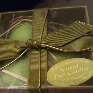 Scented fruit candles