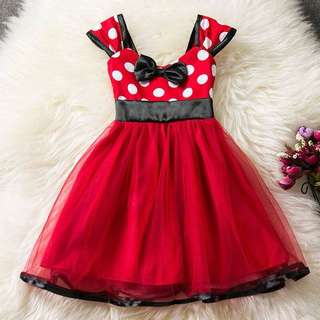 🌸GIRL POLKA DOT PRINCESS WEDDING PARTY FORMAL BIRTHDAY TULLE TUTU DRESS KIDS SKIRT🌸