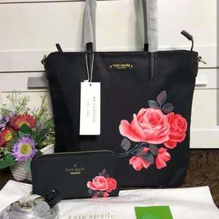 Kate Spade Vertical with Wallet Set