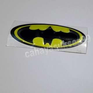 Sticker MOTOR Timbul BATMAN 10cm X 4cm Stiker Emblem Plastik Resin Tebal New Ready Stock