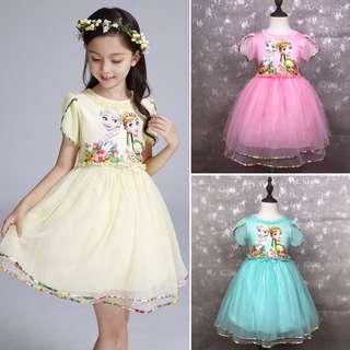 🌸GIRLS FROZEN DRESS COSTUME DISNEY PRINCESS ANNA ELSA PARTY DRESS BIRTDAYS🌸