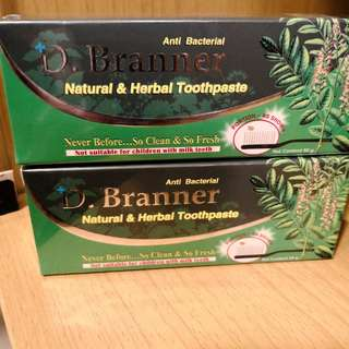 Dr Branner natural and herbal toothpaste