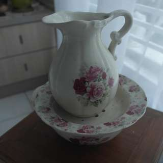 Vintage wash bowl and jug