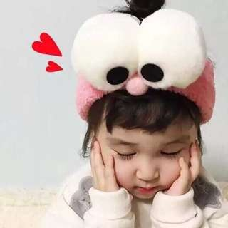 Pink Elmo Elastic Headband