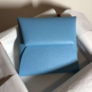 Hermes coin bag 香港購買原價出售 New Celeste light blue valentines 情人節