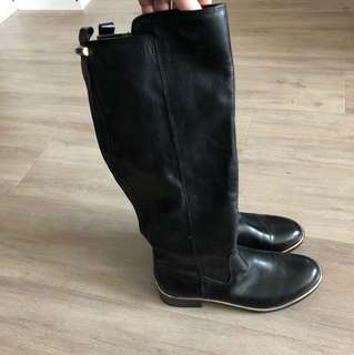 ALDO black pleather boots