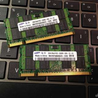 Samsung DDR2 5300 667 4G(2Gx2)notebook ram(for Macbook Notebook Netbook)