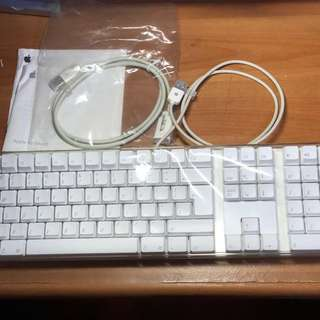 Apple White USB Keyboard RARE