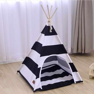 Pet Striped Teepee