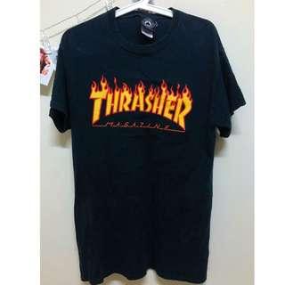 Thrasher 火焰tee