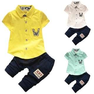 《READY STOCK》Baby Boy Summer Clothing Set (BB 903)