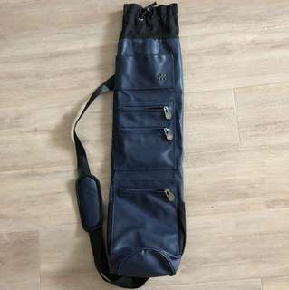 Yoga mat bag navy pleather