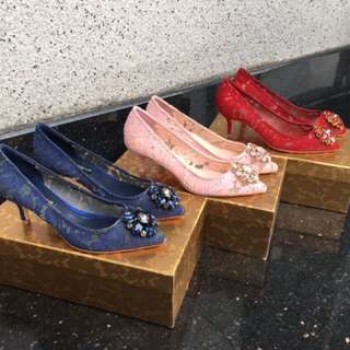 Ready DNG lace heels 4cm