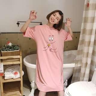 甜美中長款T恤 休閒連身裙 連衣裙