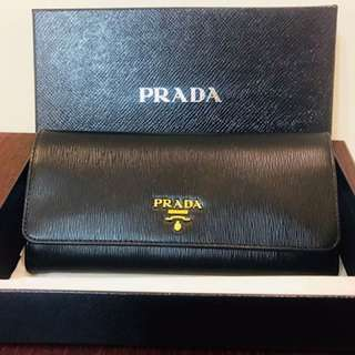 Brand New Black Prada Wallet