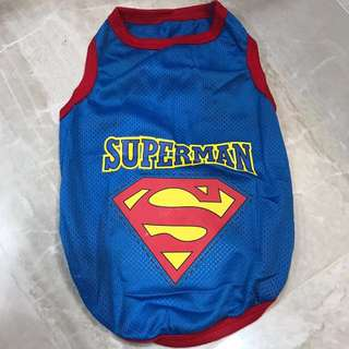 Blue Superman Jersey pets clothing