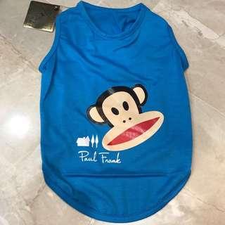 Blue Paul frank pets clothing