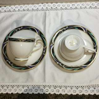 Vintage Mario Valentino teacups & saucers
