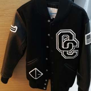Opening ceremory leather sleeves jacket