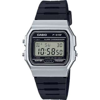 Original Casio F-91WM-7 / F91 Black Silver