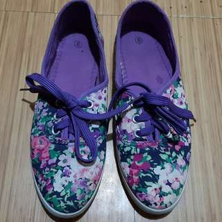 Floral Purple Shoes