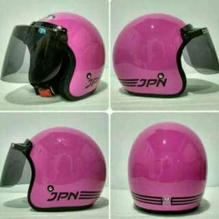 Jpn helmet flat visor pink