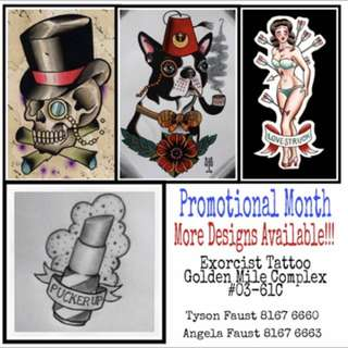 Tattoo ink promotion!