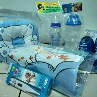 Baby~thermometer,kasut,bantal,botol&bekas susu,bip